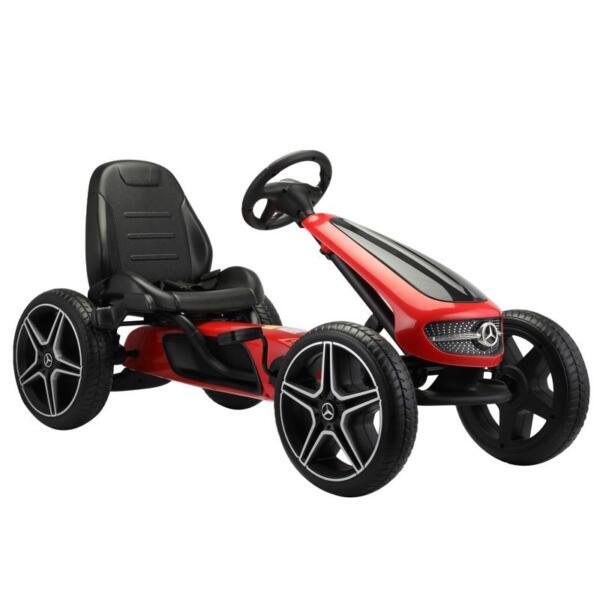 Mercedes Benz Go Kart for Kids 4 Wheel Powered, Red mercedes benz go kart for kids 4 wheel powered red 4