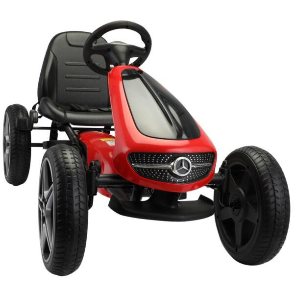 Mercedes Benz Go Kart for Kids 4 Wheel Powered, Red mercedes benz go kart for kids 4 wheel powered red 6