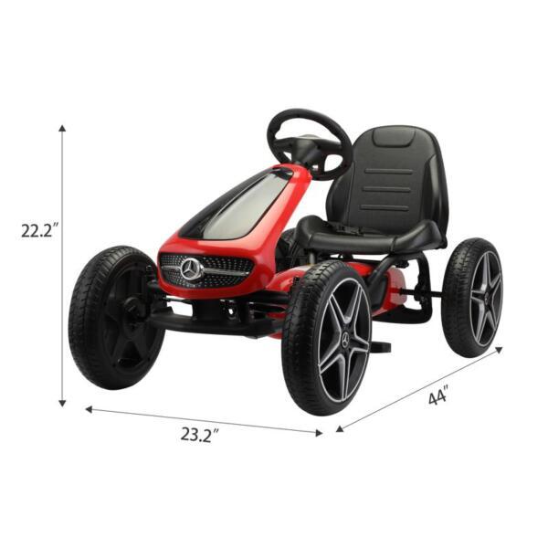 Mercedes Benz Go Kart for Kids 4 Wheel Powered, Red mercedes benz go kart for kids 4 wheel powered red 7 1