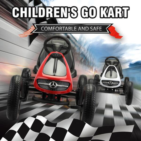 Mercedes Benz Go Kart for Kids 4 Wheel Powered, Red mercedes benz go kart for kids 4 wheel powered red 8