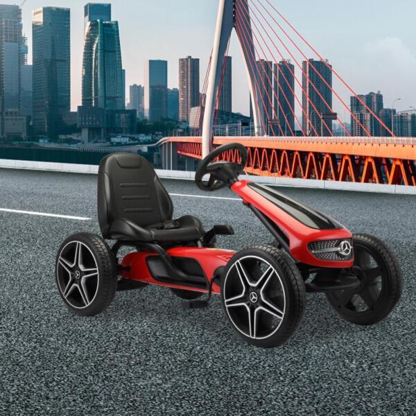 Mercedes Benz Go Kart for Kids 4 Wheel Powered, Red mercedes benz go kart for kids 4 wheel powered red 9