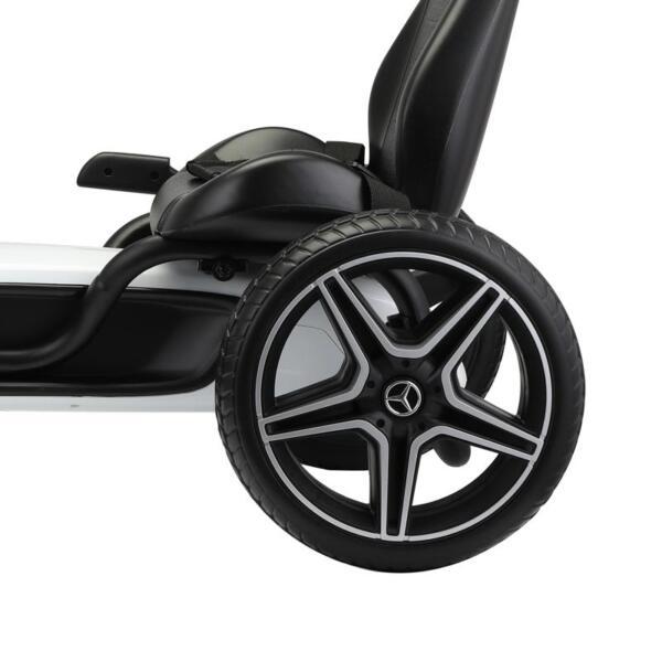 Mercedes Benz Kids Go Kart Ride On Car For Children, White mercedes benz go kart for kids 4 wheel powered white 19