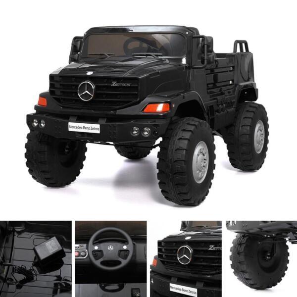 Mercedes Benz Kids Ride-On Truck, Black mercedes benz kids ride on truck black 12 2