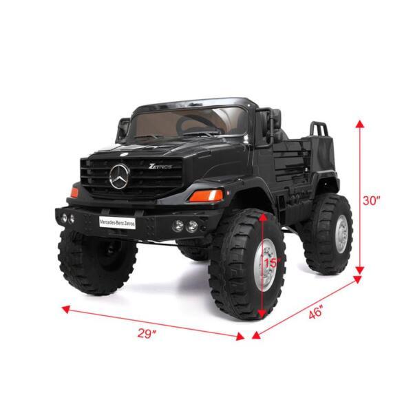 Mercedes Benz Kids Ride-On Truck, Black mercedes benz kids ride on truck black 13