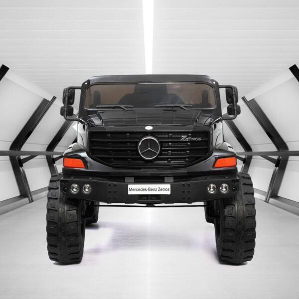 Mercedes Benz Kids Ride-On Truck, Black mercedes benz kids ride on truck black 4