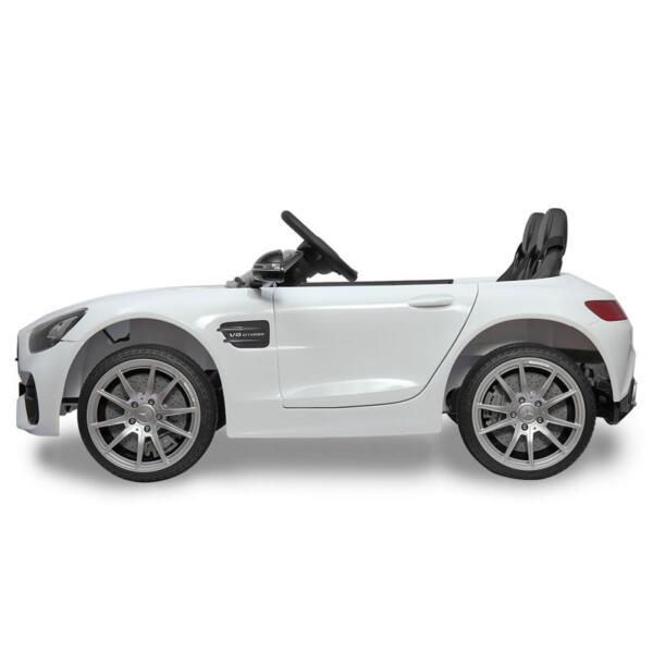 12V Mercedes Benz 2 Seater Kids Ride On Car With Remote Control, White mercedes benz licensed 12v kids electric ride on car with 2 seater red 1