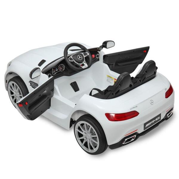 12V Mercedes Benz 2 Seater Kids Ride On Car With Remote Control, White mercedes benz licensed 12v kids electric ride on car with 2 seater red 10
