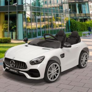 Father's Day mercedes benz licensed 12v kids electric ride on car with 2 seater red 19