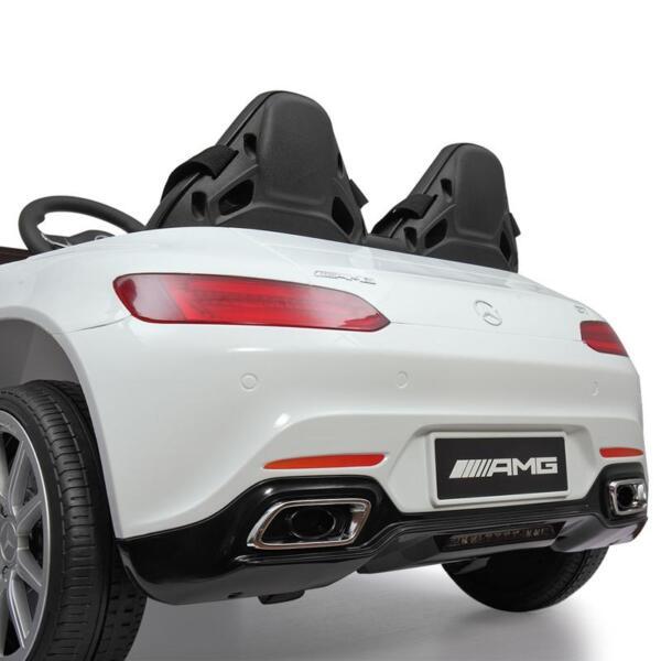 12V Mercedes Benz 2 Seater Kids Ride On Car With Remote Control, White mercedes benz licensed 12v kids electric ride on car with 2 seater red 26