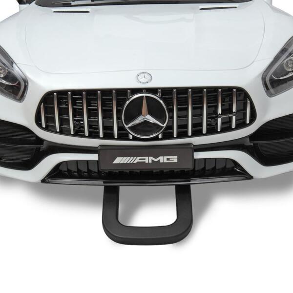 12V Mercedes Benz 2 Seater Kids Ride On Car With Remote Control, White mercedes benz licensed 12v kids electric ride on car with 2 seater red 27