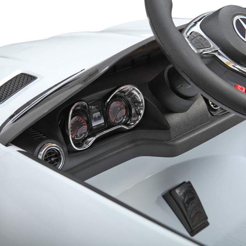 12V Mercedes Benz 2 Seater Kids Ride On Car With Remote Control, White mercedes benz licensed 12v kids electric ride on car with 2 seater red 30 1