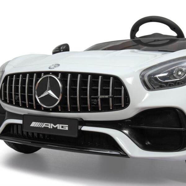 12V Mercedes Benz 2 Seater Kids Ride On Car With Remote Control, White mercedes benz licensed 12v kids electric ride on car with 2 seater red 34