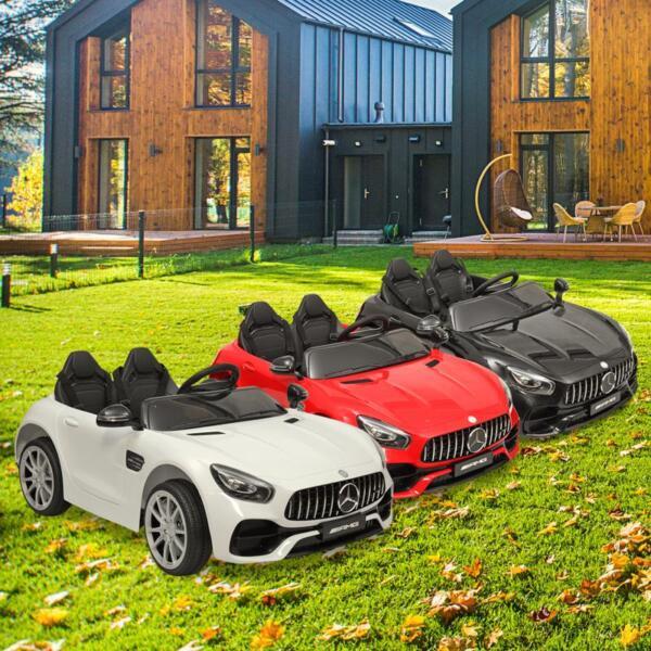 12V Mercedes Benz 2 Seater Kids Ride On Car With Remote Control, White mercedes benz licensed 12v kids electric ride on car with 2 seater red 39
