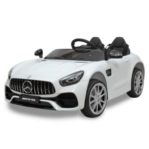 Father's Day mercedes benz licensed 12v kids electric ride on car with 2 seater red 7
