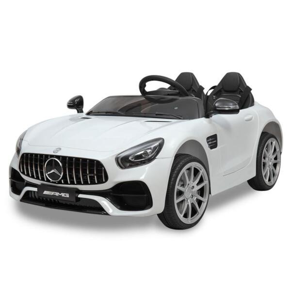 12V Mercedes Benz 2 Seater Kids Ride On Car With Remote Control, White mercedes benz licensed 12v kids electric ride on car with 2 seater red 7