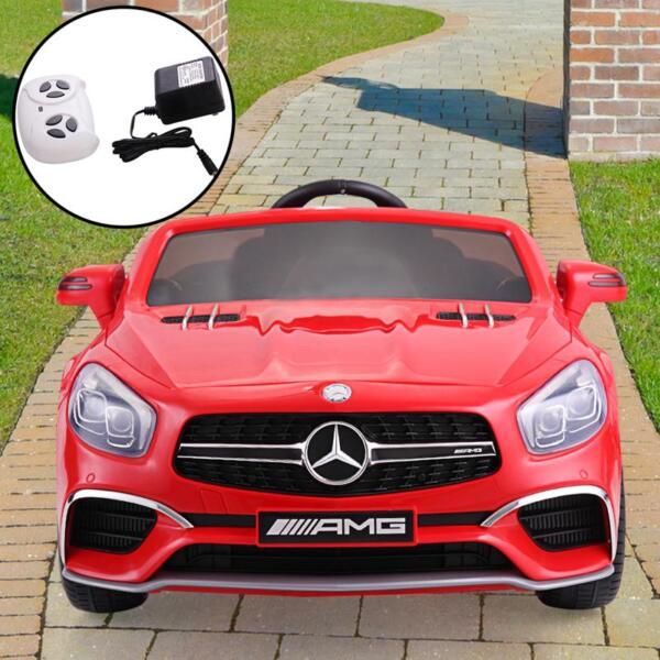 12V Mercedes Benz 2 Seater Kids Power Wheels With Remote, Red mercedes benz licensed 12v kids ride on car red 13