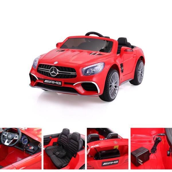 12V Mercedes Benz 2 Seater Kids Power Wheels With Remote, Red mercedes benz licensed 12v kids ride on car red 14