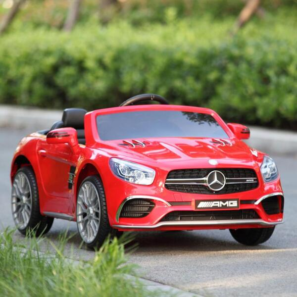 12V Mercedes Benz 2 Seater Kids Power Wheels With Remote, Red mercedes benz licensed 12v kids ride on car red 15