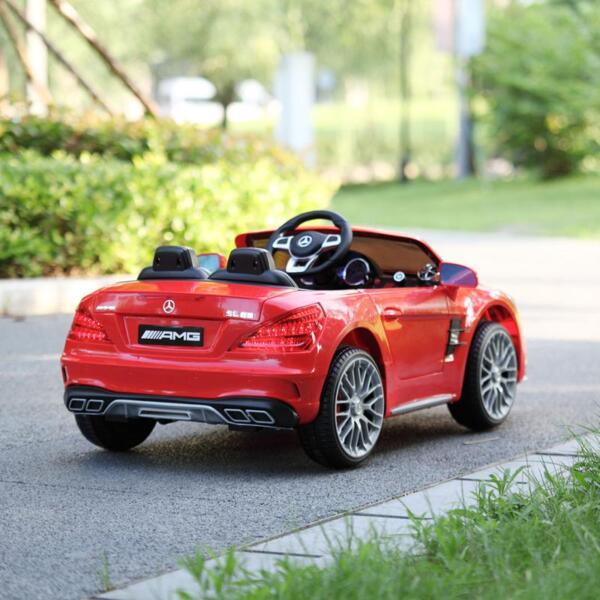 12V Mercedes Benz 2 Seater Kids Power Wheels With Remote, Red mercedes benz licensed 12v kids ride on car red 18