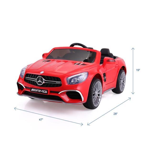 12V Mercedes Benz 2 Seater Kids Power Wheels With Remote, Red mercedes benz licensed 12v kids ride on car red 22 1