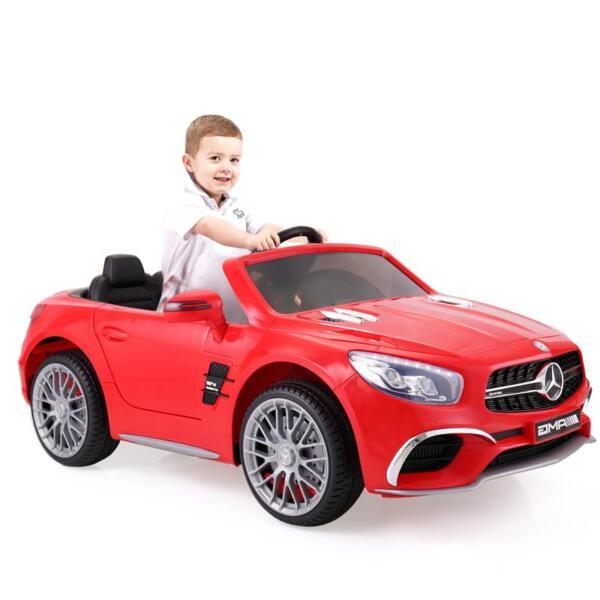 12V Mercedes Benz 2 Seater Kids Power Wheels With Remote, Red mercedes benz licensed 12v kids ride on car red 5