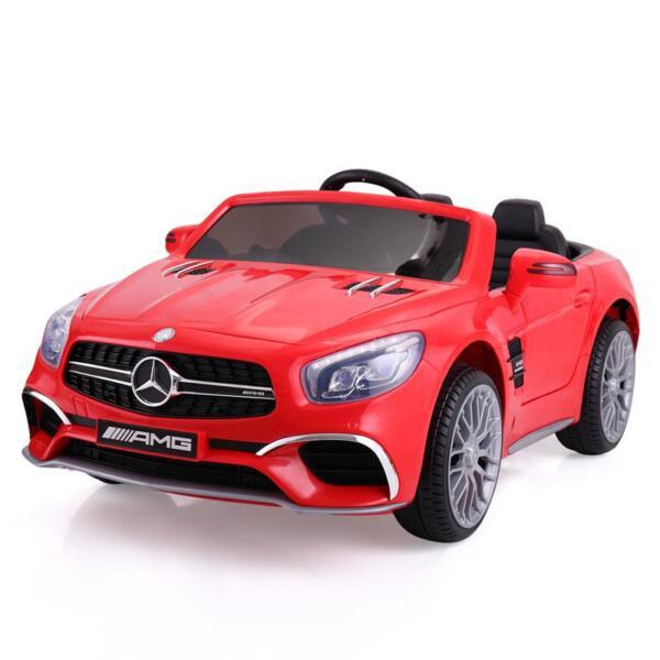 12V Mercedes Benz 2 Seater Kids Power Wheels With Remote, Red mercedes benz licensed 12v kids ride on car red 6