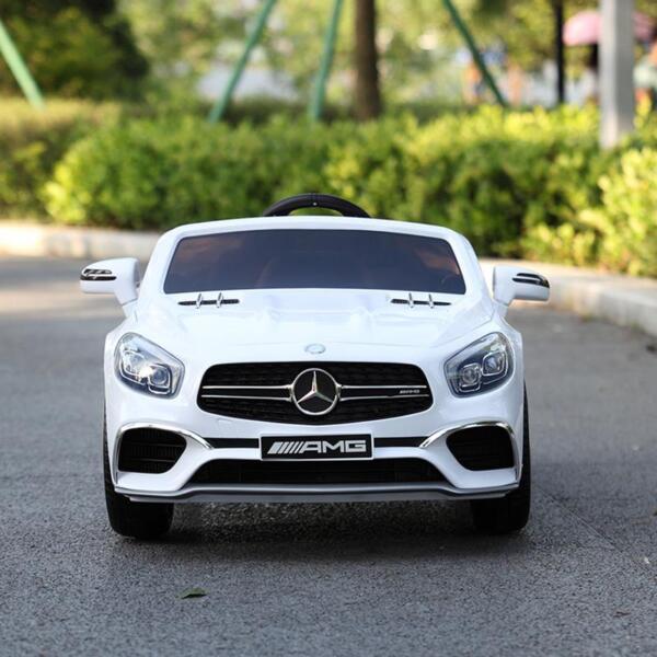 12V Mercedes Benz 2 Seater Kids Power Wheels With Remote, White mercedes benz licensed 12v kids ride on car white 15