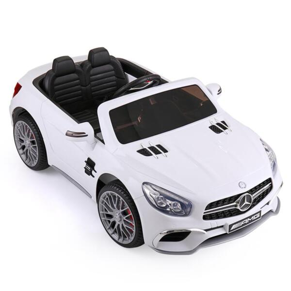 12V Mercedes Benz 2 Seater Kids Power Wheels With Remote, White mercedes benz licensed 12v kids ride on car white 2