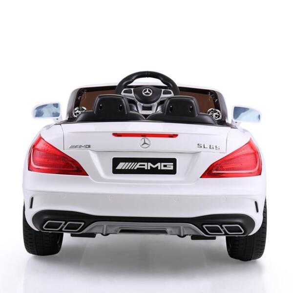 12V Mercedes Benz 2 Seater Kids Power Wheels With Remote, White mercedes benz licensed 12v kids ride on car white 20