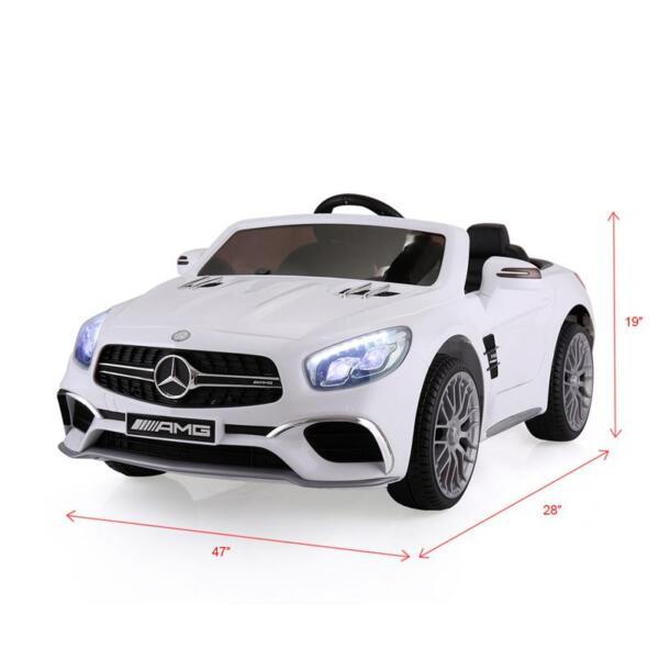12V Mercedes Benz 2 Seater Kids Power Wheels With Remote, White mercedes benz licensed 12v kids ride on car white 21