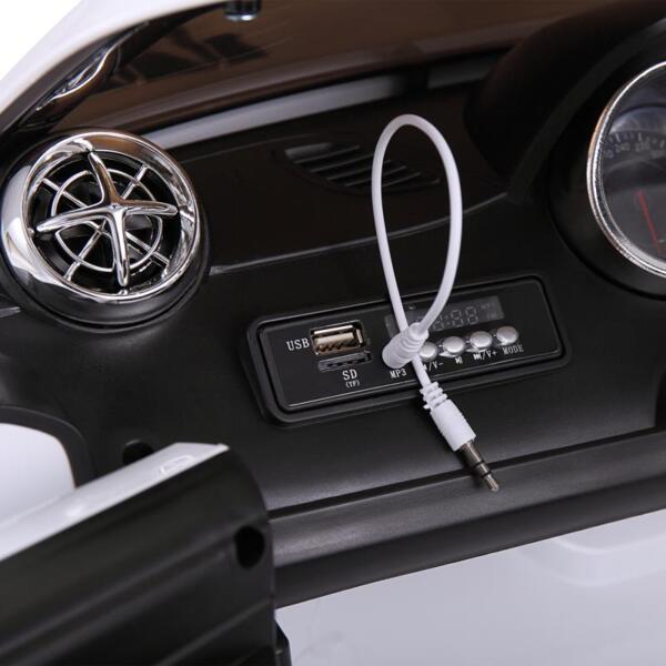 12V Mercedes Benz 2 Seater Kids Power Wheels With Remote, White mercedes benz licensed 12v kids ride on car white 25