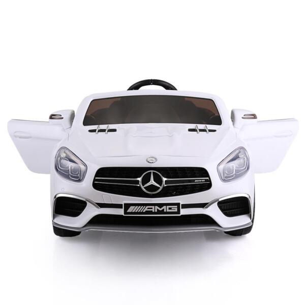 12V Mercedes Benz 2 Seater Kids Power Wheels With Remote, White mercedes benz licensed 12v kids ride on car white 3