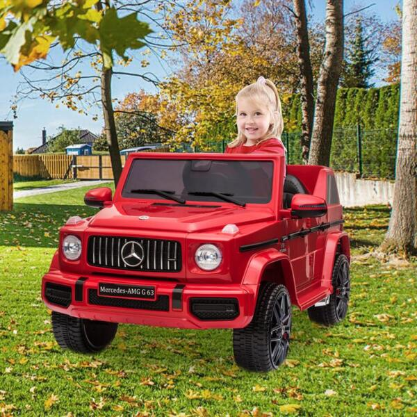12V Mercedes Benz Ride on Car with Remote Control, Red mercedes benz licensed amg g63 12v kids ride on cars red 12