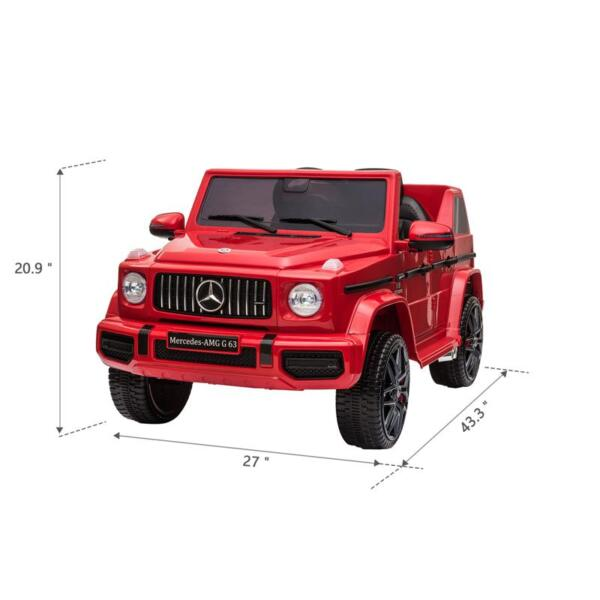 12V Mercedes Benz Ride on Car with Remote Control, Red mercedes benz licensed amg g63 12v kids ride on cars red 14