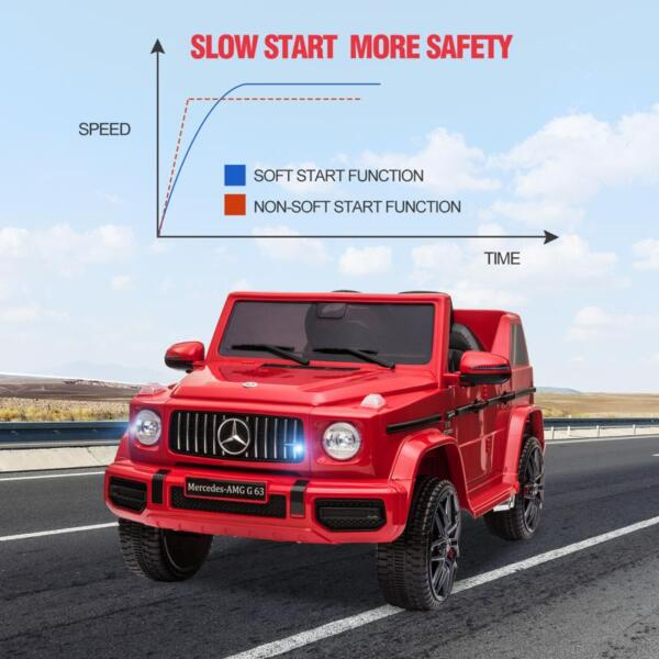 12V Mercedes Benz Ride on Car with Remote Control, Red mercedes benz licensed amg g63 12v kids ride on cars red 32