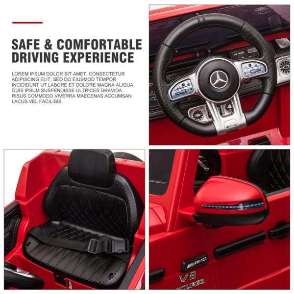 12V Mercedes Benz Ride on Car with Remote Control, Red mercedes benz licensed amg g63 12v kids ride on cars red 33 2