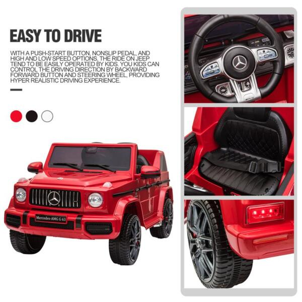 12V Mercedes Benz Ride on Car with Remote Control, Red mercedes benz licensed amg g63 12v kids ride on cars red 35 2