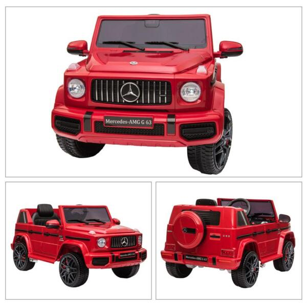 12V Mercedes Benz Ride on Car with Remote Control, Red mercedes benz licensed amg g63 12v kids ride on cars red 37