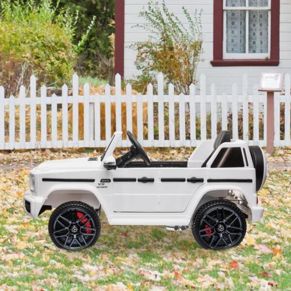 Mercedes-Benz Licensed AMG G63 12V Kids Ride On Cars, White mercedes benz licensed amg g63 12v kids ride on cars white 19