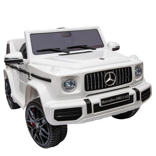 Mercedes-Benz Licensed AMG G63 12V Kids Ride On Cars, White mercedes benz licensed amg g63 12v kids ride on cars white 2 1