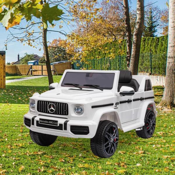 Mercedes-Benz Licensed AMG G63 12V Kids Ride On Cars, White mercedes benz licensed amg g63 12v kids ride on cars white 21