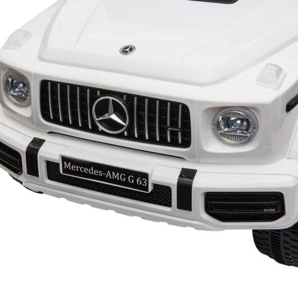Mercedes-Benz Licensed AMG G63 12V Kids Ride On Cars, White mercedes benz licensed amg g63 12v kids ride on cars white 22