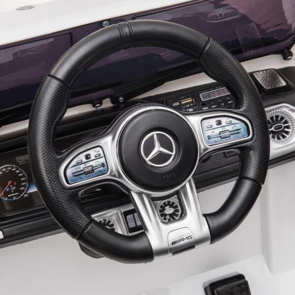 Mercedes-Benz Licensed AMG G63 12V Kids Ride On Cars, White mercedes benz licensed amg g63 12v kids ride on cars white 26
