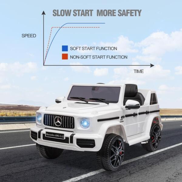 Mercedes-Benz Licensed AMG G63 12V Kids Ride On Cars, White mercedes benz licensed amg g63 12v kids ride on cars white 38