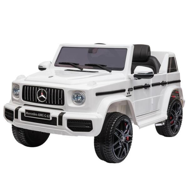 Mercedes-Benz Licensed AMG G63 12V Kids Ride On Cars, White mercedes benz licensed amg g63 12v kids ride on cars white 5