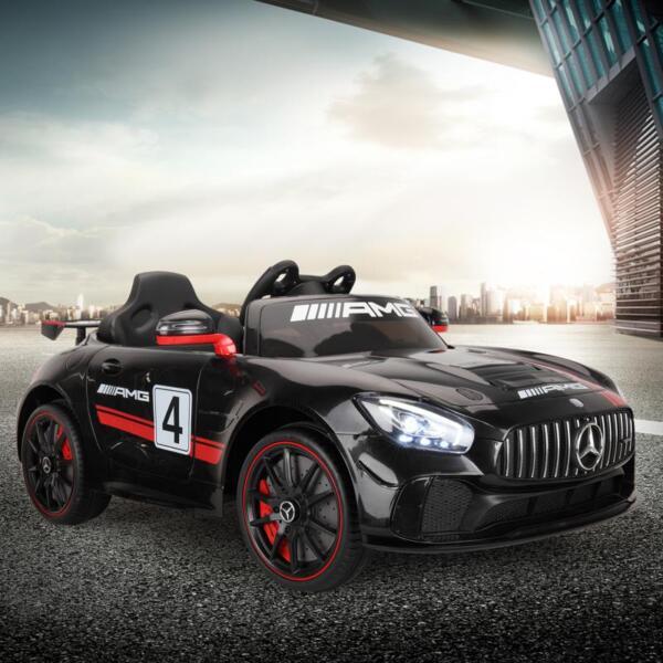 Mercedes Benz Licensed AMG GT 12V Ride On Car for Kids, Black mercedes benz licensed amg gt 12v ride on car for kids black 15