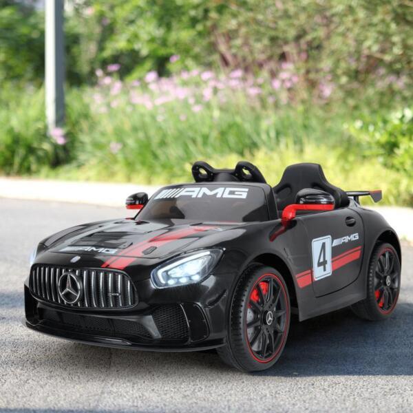 Mercedes Benz Licensed AMG GT 12V Ride On Car for Kids, Black mercedes benz licensed amg gt 12v ride on car for kids black 16