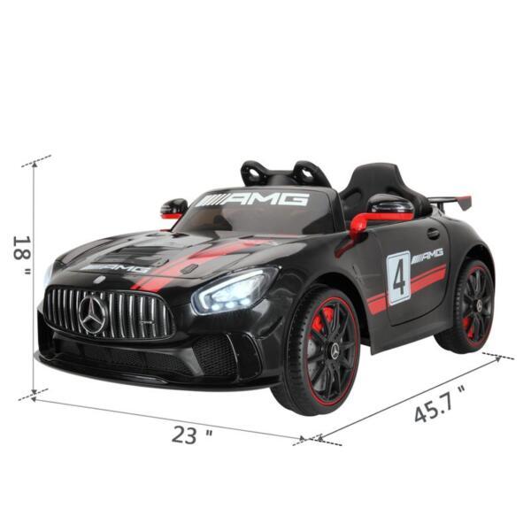 Mercedes Benz Licensed AMG GT 12V Ride On Car for Kids, Black mercedes benz licensed amg gt 12v ride on car for kids black 17
