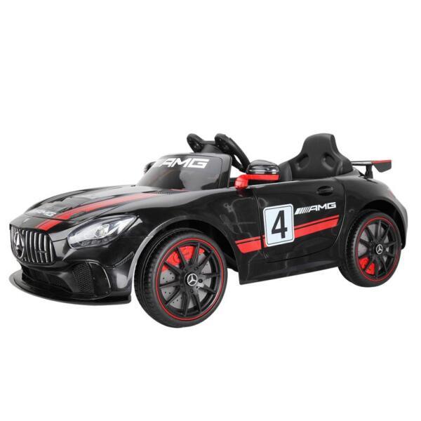 Mercedes Benz Licensed AMG GT 12V Ride On Car for Kids, Black mercedes benz licensed amg gt 12v ride on car for kids black 2