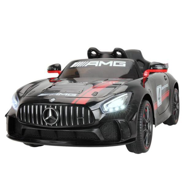 Mercedes Benz Licensed AMG GT 12V Ride On Car for Kids, Black mercedes benz licensed amg gt 12v ride on car for kids black 3